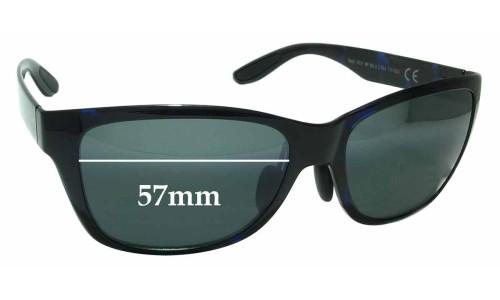 Sunglass Fix Sunglass Replacement Lenses for Maui Jim MJ435 Road Trip MP-BG - 57mm Wide