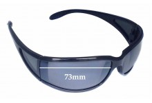 Sunglass Fix Sunglass Replacement Lenses for Maui Jim Offshore MJ444 - 73mm Wide
