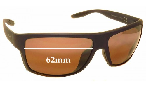Sunglass Fix Sunglass Replacement Lenses for Maui Jim MJ528 Pohaku - 62mm Wide