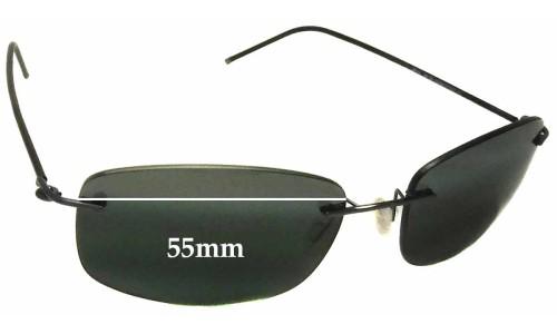 Sunglass Fix Sunglass Replacement Lenses for Maui Jim MJ718 Myna - 55mm wide