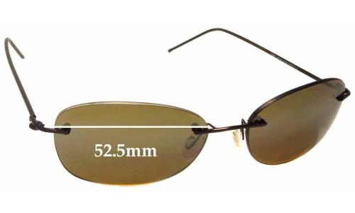Sunglass Fix Sunglass Replacement Lenses for Maui Jim MJ719 Nene - 52.5mm Wide