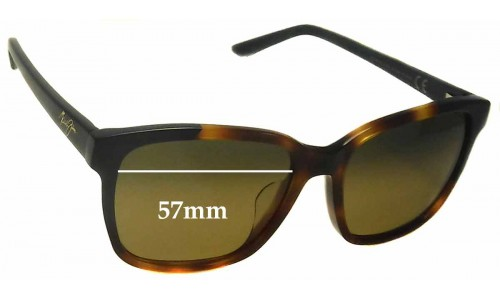 Sunglass Fix Sunglass Replacement Lenses for Maui Jim MJ726 Moonbow - 57mm Wide