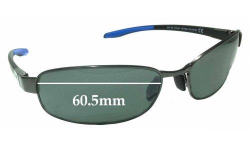Sunglass Fix Sunglass Replacement Lenses for Maui Jim MJ741 Salt Air STG-BG - 60.5mm Wide