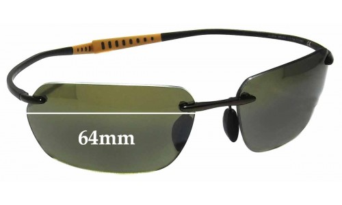 Sunglass Fix Sunglass Replacement Lenses for Maui Jim MJ743 Alakai - 64mm Wide