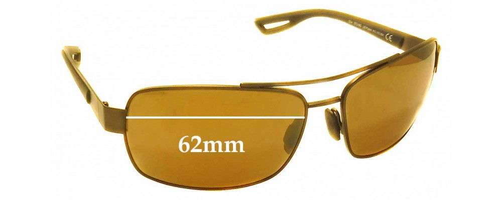 Sunglass Fix Sunglass Replacement Lenses for Maui Jim MJ764 Ola - 62mm Wide