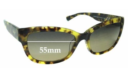 Sunglass Fix Sunglass Replacement Lenses for Maui Jim MJ768 Plumeria MB-SG - 55mm Wide