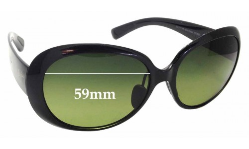 Sunglass Fix Sunglass Replacement Lenses for Maui Jim Nahiku MJ436 - 59mm wide