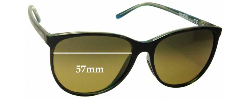 Sunglass Fix Sunglass Replacement Lenses for Maui Jim MJ723 Ocean - 57mm Wide