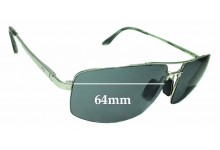 Sunglass Fix Sunglass Replacement Lenses for Maui Jim Sandal Wood MJ217 - 64mm Wide
