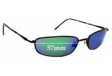 Sunglass Fix Sunglass Replacement Lenses for Maui Jim South Shore MJ115 - 57mm Wide