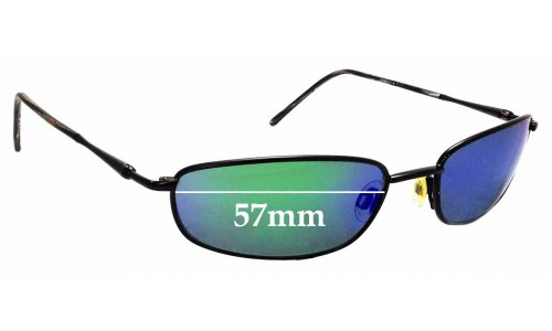 Sunglass Fix Sunglass Replacement Lenses for Maui Jim South Shore MJ115 - 57mm Wide