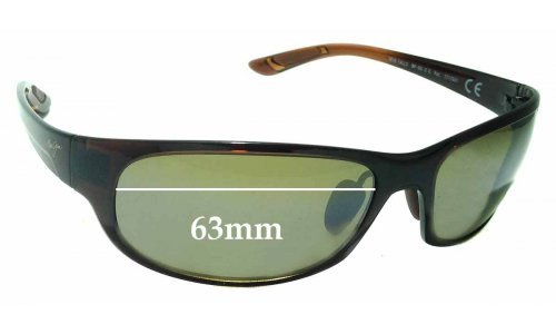 Sunglass Fix Sunglass Replacement Lenses for Maui Jim Twin Falls MJ417 - 63mm Wide