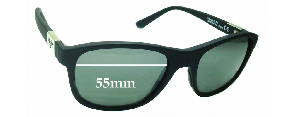 Sunglass Fix Sunglass Replacement Lenses for Maui Jim Wakea MJ745 - 55mm Wide