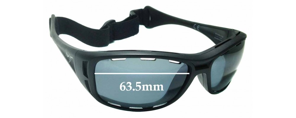 Sunglass Fix Sunglass Replacement Lenses for Maui Jim Waterman MJ410 - 63mm Wide