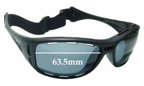 Sunglass Fix Sunglass Replacement Lenses for Maui Jim Waterman PC-BG MJ410 - 63.5mm wide