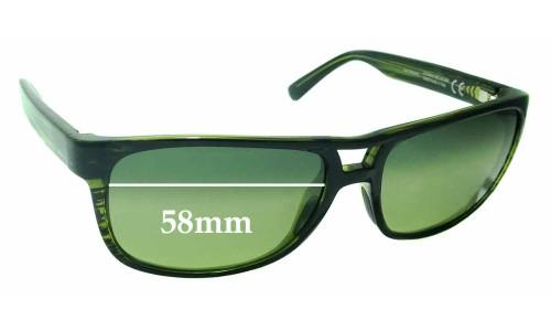 Sunglass Fix Sunglass Replacement Lenses for Maui Jim Waterways MJ267 - 58mm Wide