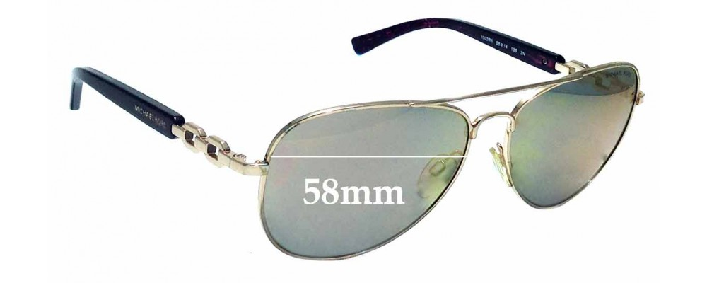 84ebb491f7 Sunglass Fix Sunglass Replacement Lenses for Michael Kors Fiji MK1003R5  58mm wide