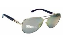 Sunglass Fix Sunglass Replacement Lenses for Michael Kors Fiji MK1003R5 58mm Wide