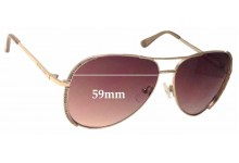Sunglass Fix Sunglass Replacement Lenses for Michael Kors Sadie M2062S - 59mm Wide