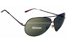 Sunglass Fix Sunglass Replacement Lenses for Missoni MI55203 - 66mm Wide