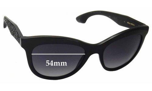 Sunglass Fix Sunglass Replacement Lenses for Miu Miu SMU10P - 54mm Wide