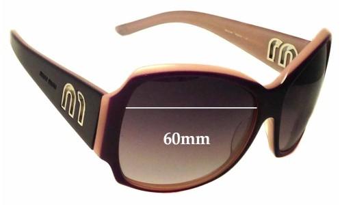 Sunglass Fix Sunglass Replacement Lenses for Miu Miu SMU14H - 60mm Wide