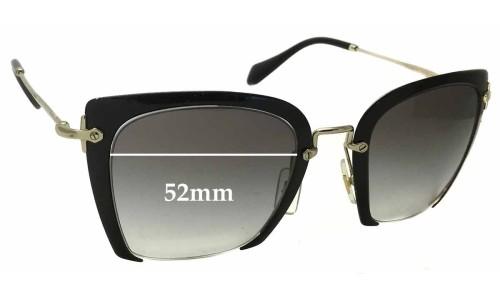 Sunglass Fix Sunglass Replacement Lenses for Miu Miu SMU52R - 52mm Wide