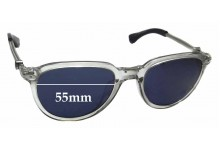 Sunglass Fix Sunglass Replacement Lenses for Moncler MC551S - 55mm Wide