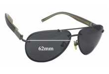 Sunglass Fix Sunglass Replacement Lenses for Montblanc MB 404S - 62mm Wide