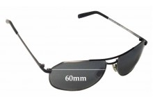 Sunglass Fix Sunglass Replacement Lenses for Morgenthal Frederics Stealth 60 - 60mm Wide