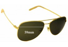 Sunglass Fix Sunglass Replacement Lenses for Mosley Tribes Raynes - 59mm Wide