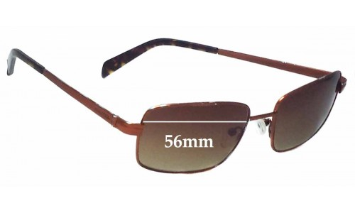 Sunglass Fix Sunglass Replacement Lenses for Nautica N5034S - 56mm Wide x 37mm Tall