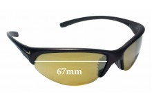 Sunglass Fix Sunglass Replacement Lenses for Nike Skylon EXP RD EVO173 - 67mm Wide