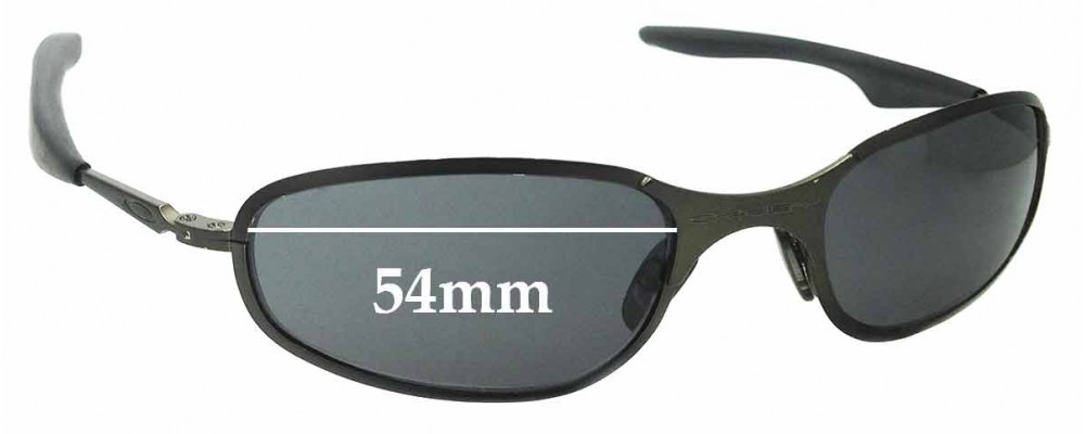 0165980ab8f Sunglass Fix Sunglass Replacement Lenses for Oakley A-Wire 2.0 Thick - 54mm  Wide - awire a wire