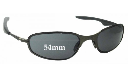 Sunglass Fix Sunglass Replacement Lenses for Oakley A-Wire 2.0 Thick - 54mm Wide - awire a wire