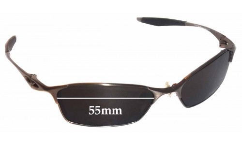 Sunglass Fix Sunglass Replacement Lenses for Oakley Bracket 8.1 - 55mm wide