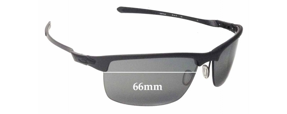 1f28b13fc1b Oakley Carbon Blade OO9174 Sunglass Replacement Lenses - 66mm Wide ...