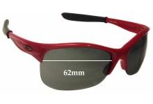 Sunglass Fix Sunglass Replacement Lenses for Oakley Commit AV9108 - 62mm Wide