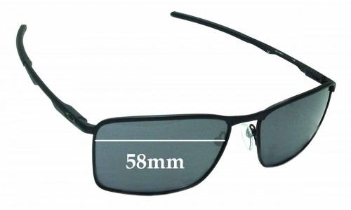 Sunglass Fix Sunglass Replacement Lenses for Oakley Conductor 6 OO4106 - 58mm Wide