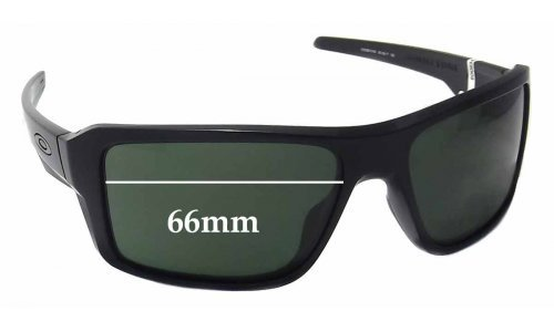 Sunglass Fix Sunglass Replacement Lenses for Oakley Double Edge OO9380 - 66mm wide