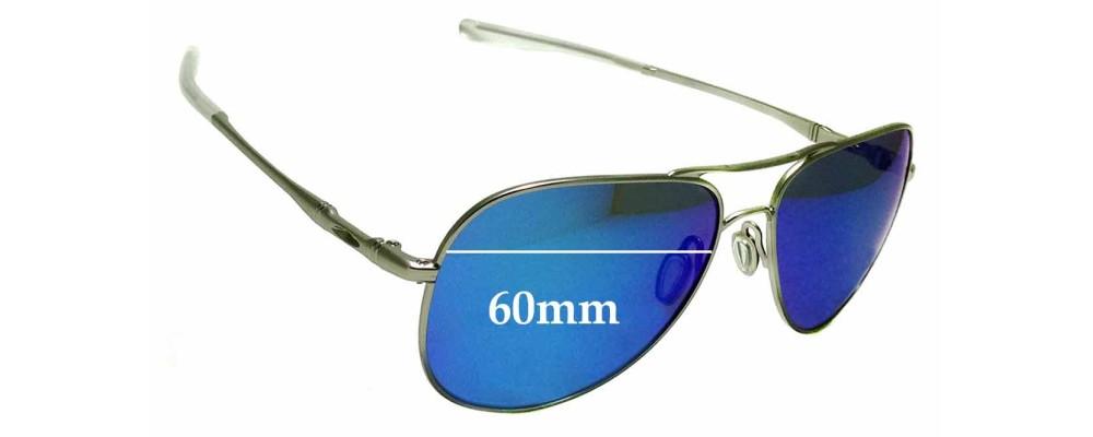 Sunglass Fix Sunglass Replacement Lenses for Oakley Elmont L OO4119 - 60mm Wide