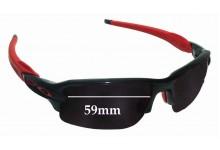 Sunglass Fix Sunglass Replacement Lenses for Oakley Flak 2.0 OO9295 - 59mm Wide