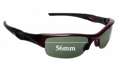 Sunglass Fix Sunglass Replacement Lenses for Oakley Flak Jacket - 56mm Wide