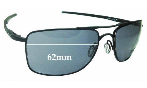 Sunglass Fix Sunglass Replacement Lenses for Oakley Gauge 8 OO4124 - 62mm Wide x 45.5mm Tall