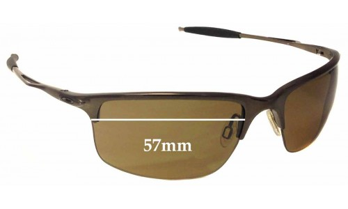 Sunglass Fix Sunglass Replacement Lenses for Oakley Half Wire 2.0 - 57mm Wide x 37.5mm Tall