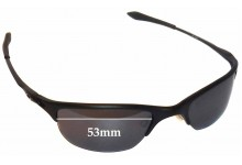 Sunglass Fix Sunglass Replacement Lenses for Oakley Half Wire Original - 53mm Wide x  30mm Tall