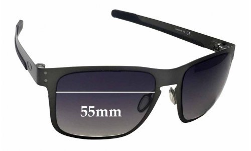 Sunglass Fix Sunglass Replacement Lenses for Oakley Holbrook Metal OO4123 - 55mm Wide