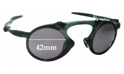 Sunglass Fix Sunglass Replacement Lenses for Oakley X Metal Madman OO6019 - 42mm Wide