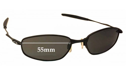 Sunglass Fix Sunglass Replacement Lenses for Oakley OX3107 Whisker - 55mm wide