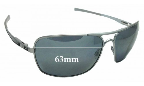 Sunglass Fix Sunglass Replacement Lenses for Oakley Plaintiff Squared OO4063 - 63mm wide